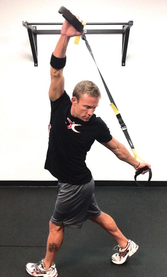 Nik Obert demonstrates TRX, used as Total Resistance Exercise