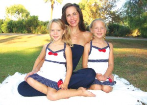 Bronwyn Ison and daughters, Bryna and Brielle