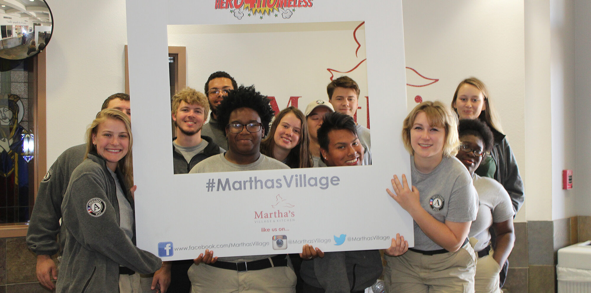 Volunteers at Martha's Village