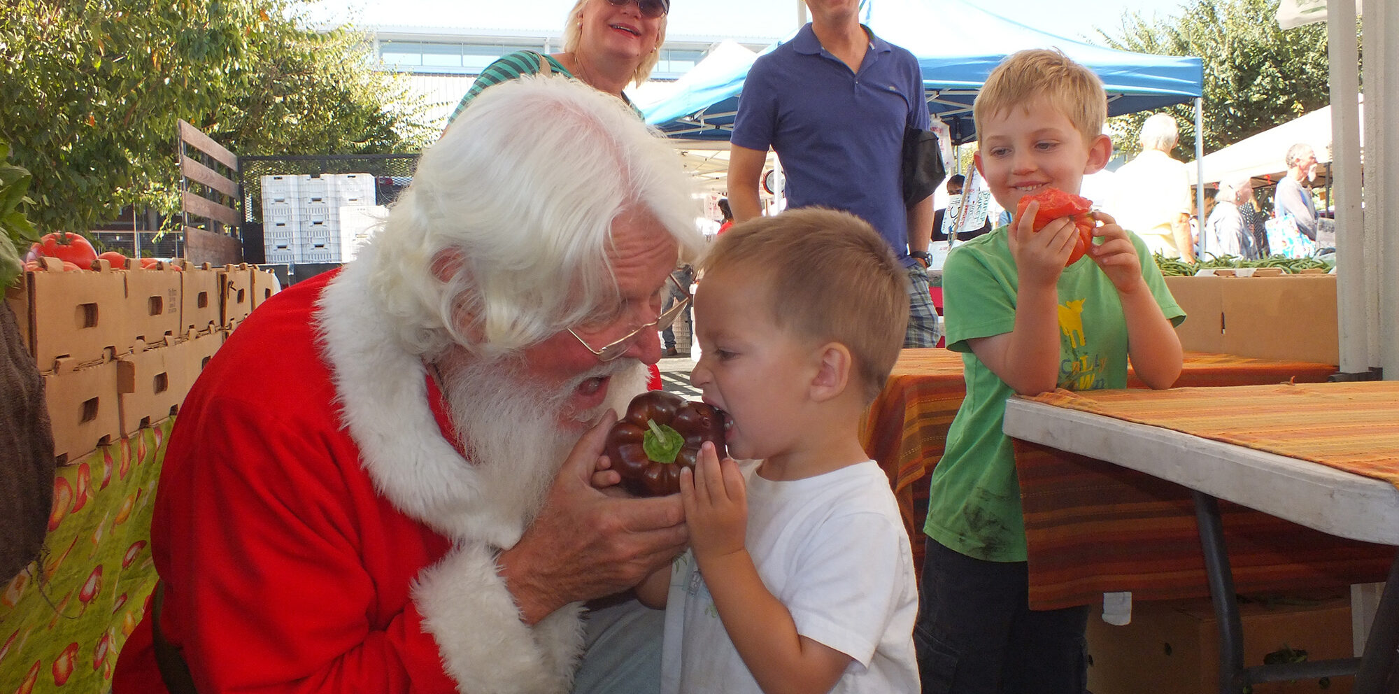 Santa helps little Adam