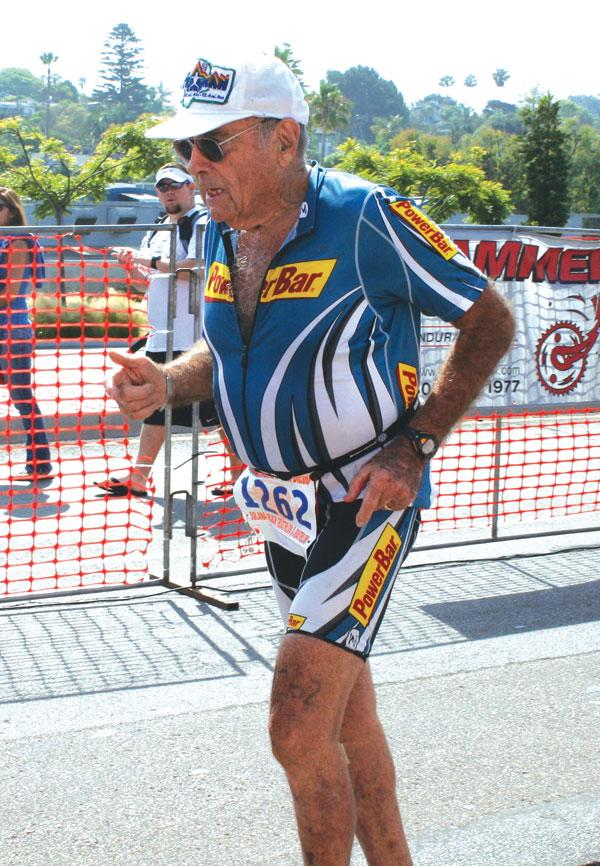 Heading to the finish line at the Solana Beach Triathlon