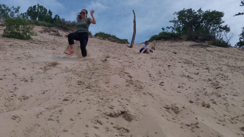 Running down the dunes