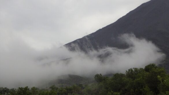 storm on the volcano