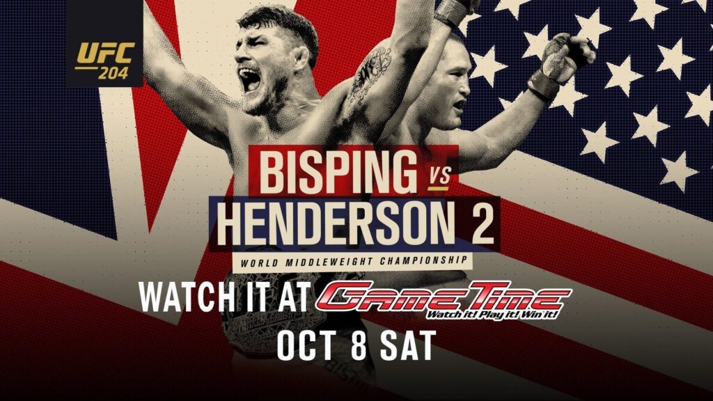 Watch UFC 204 bisping_v_henderson_2_ufc_2016_at GameTime Sports Bar and Arcade in Miami Tampa Fort Myers