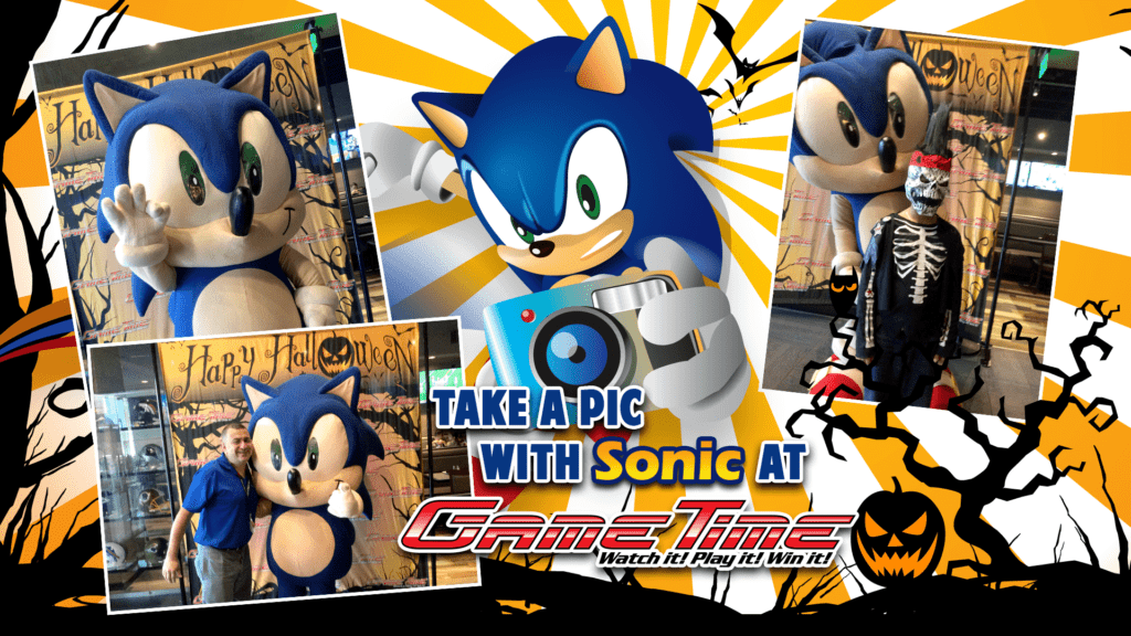 Halloween with Sonic at GameTime Miami and Fort Myers Florida