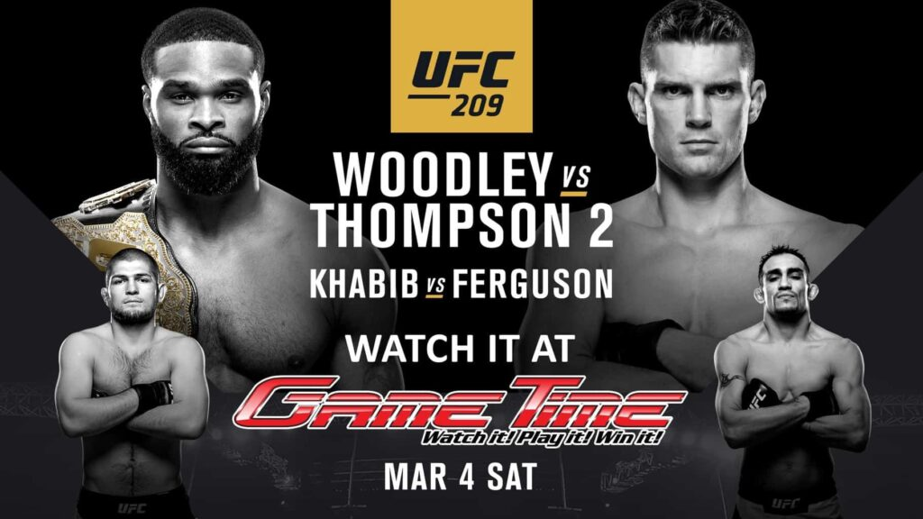 Watch UFC 209 at GameTime Sports Bar Miami Tampa Fort Myers Ybor City