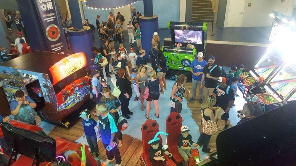 GameTime arcade at Tropicana Field Tampa Bay Rays MLB