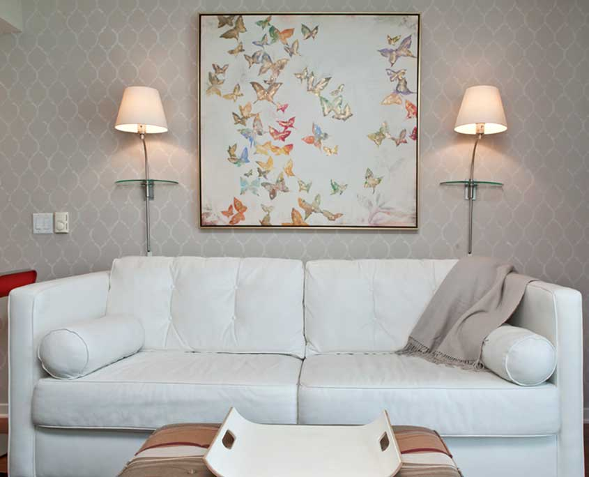 Decorative wall painting stencil pattern