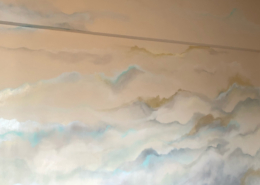 Metallic sky and clouds effect faux finish - decorative painting
