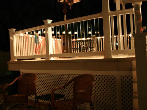 Phoenix Glass Panel Railings with Ambience Lights