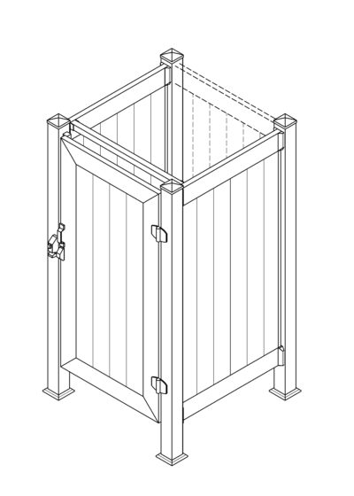 Phoenix Manufacturing Shower Enclosure 3x3