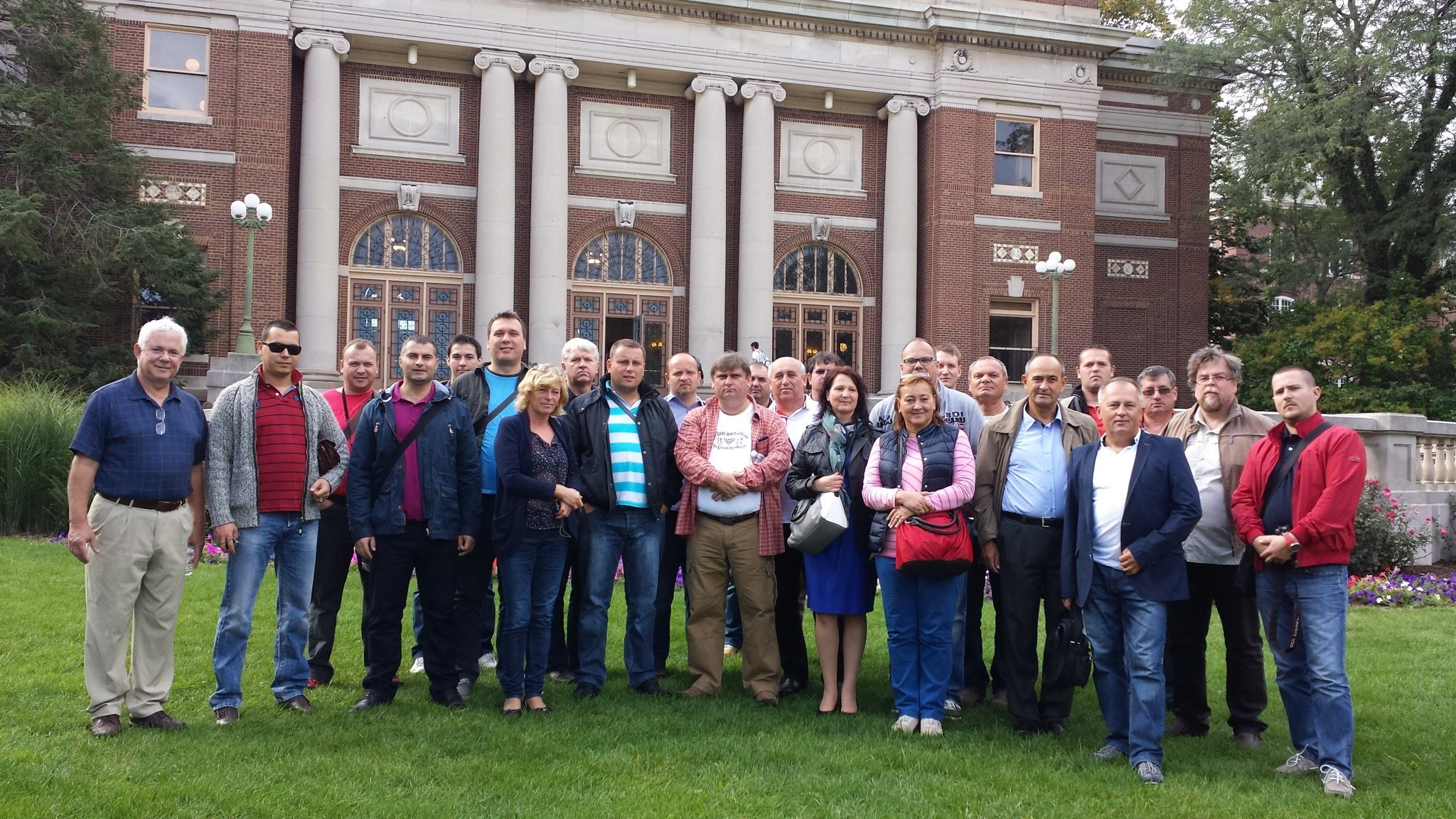 agtours.us tour group in front of historical building