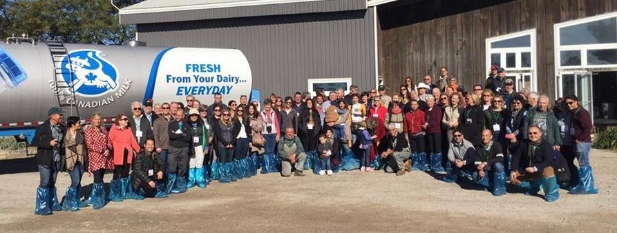agtours.us tour group at Canada Dairy