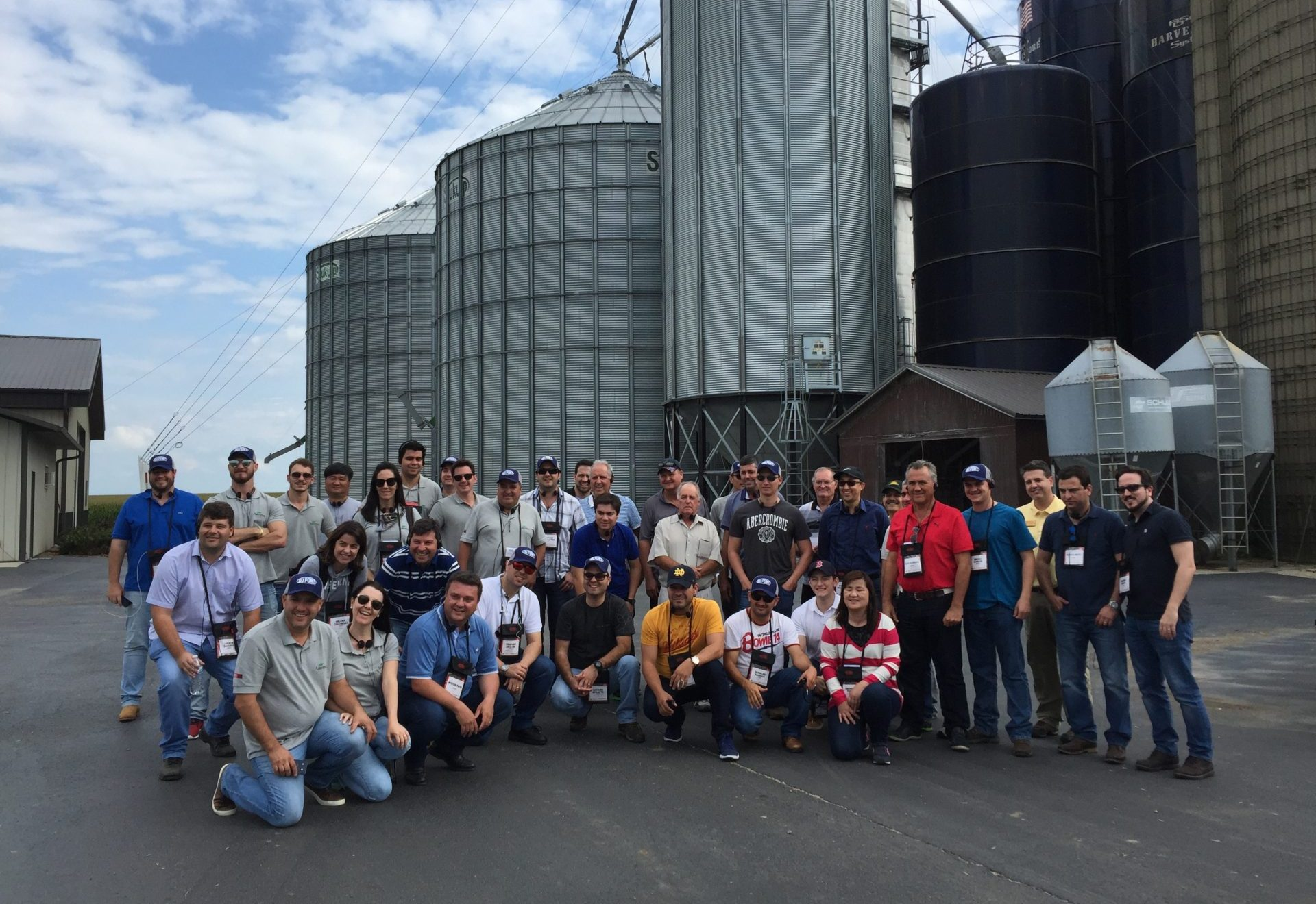 agtours.us tour group in front of silos