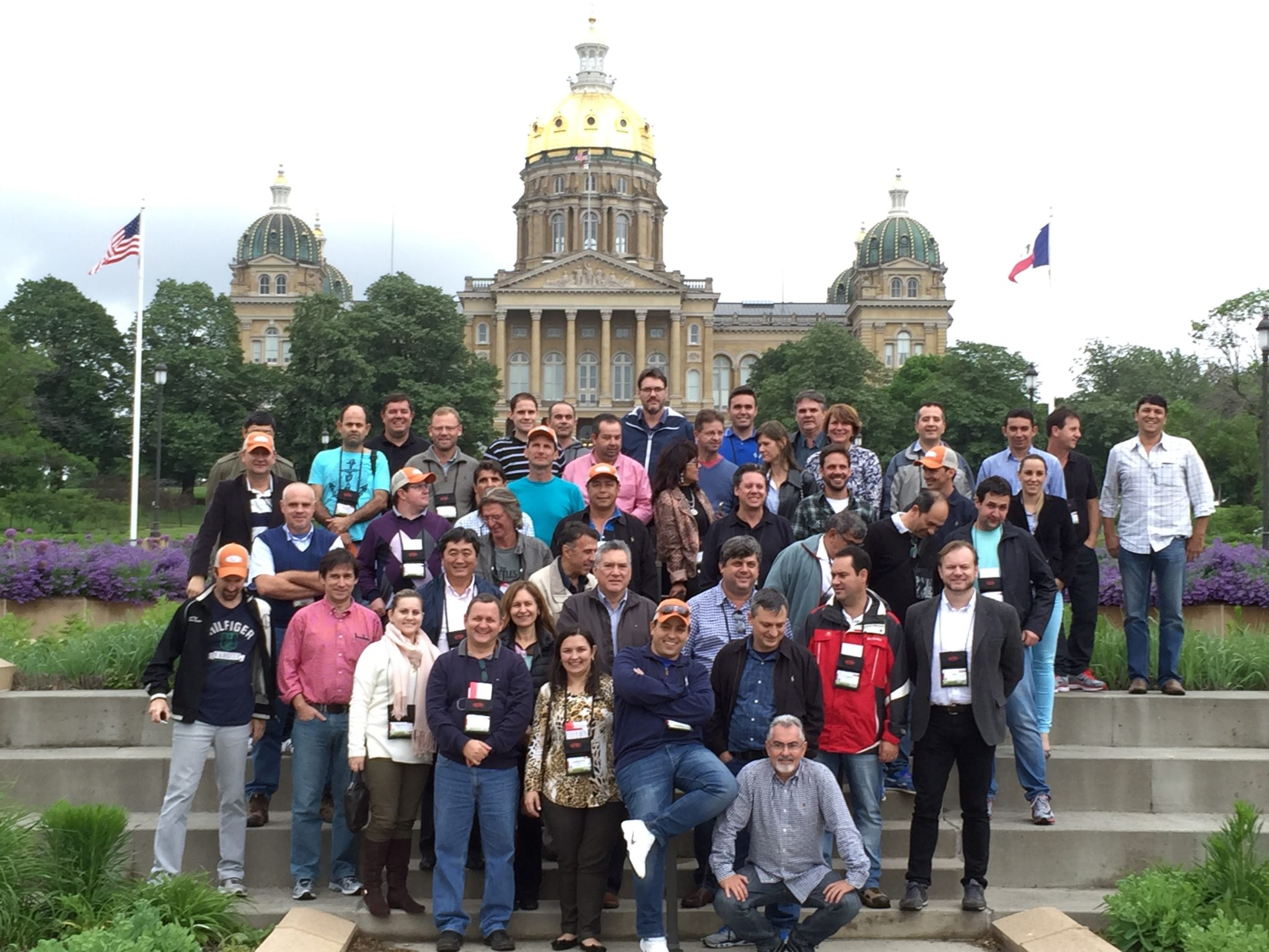 agtours.us tour group on steps in front of a capital building