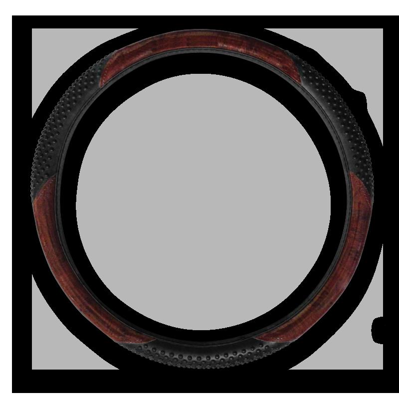 Brown and Black Massage Vinyl Steering Wheel