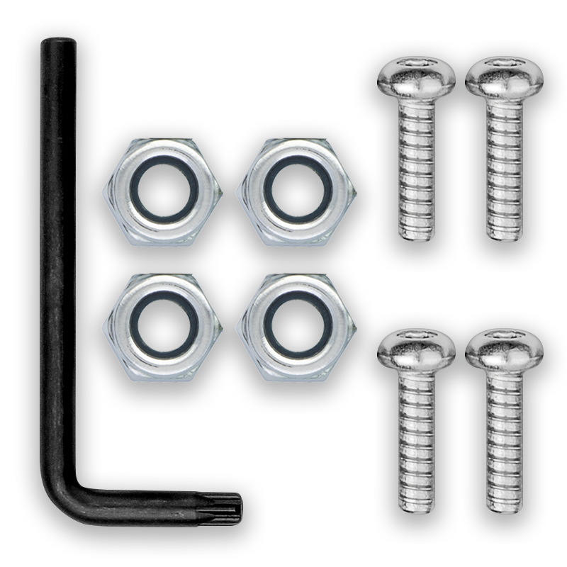 Screws and Nuts for License Plate