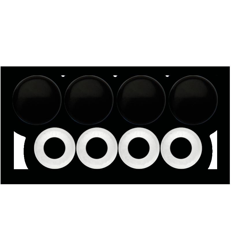 Black Fastener Caps