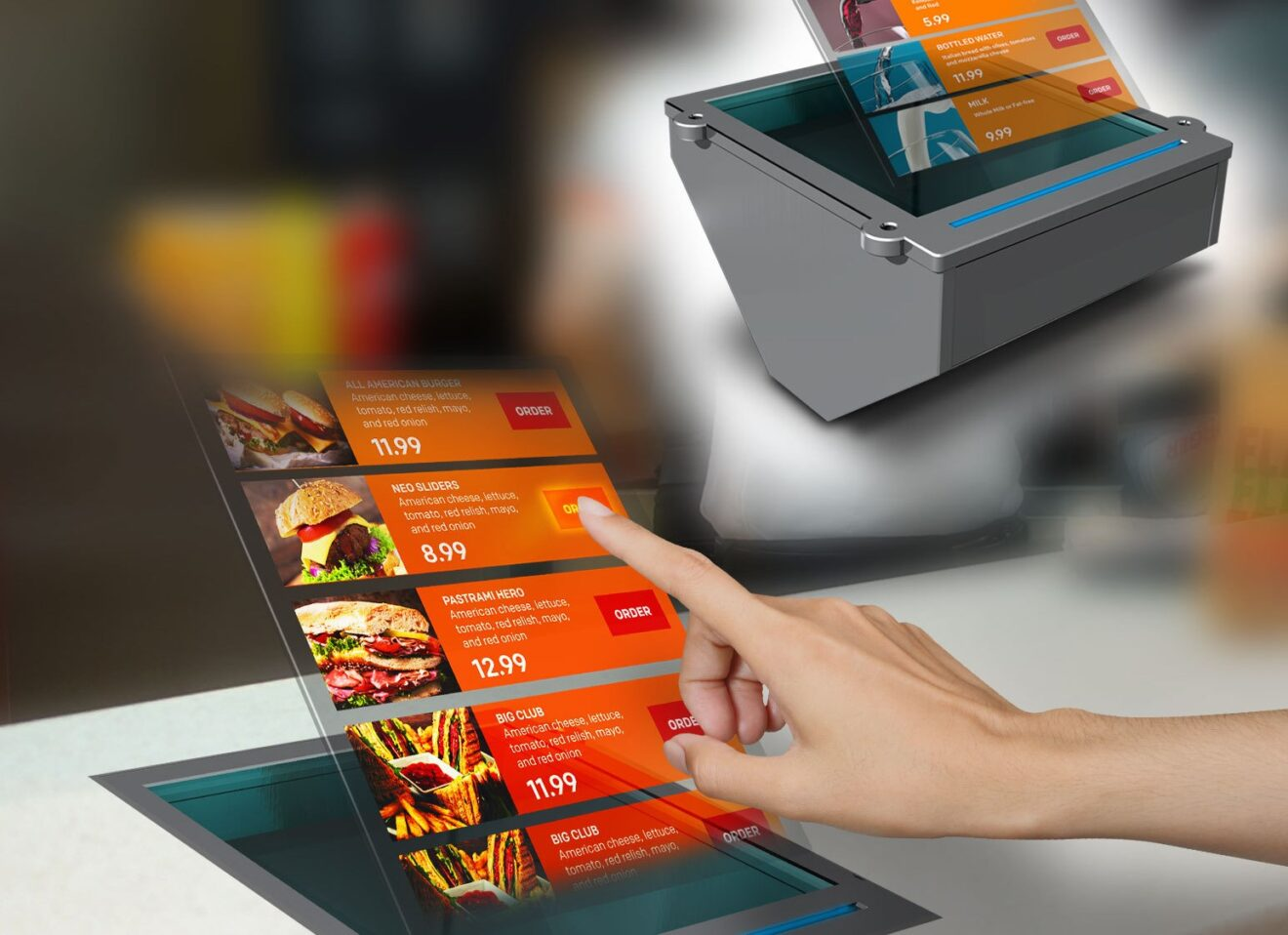Will Holographic Ordering Solutions Be the Next Big Thing in Contactless Restaurant Technology?