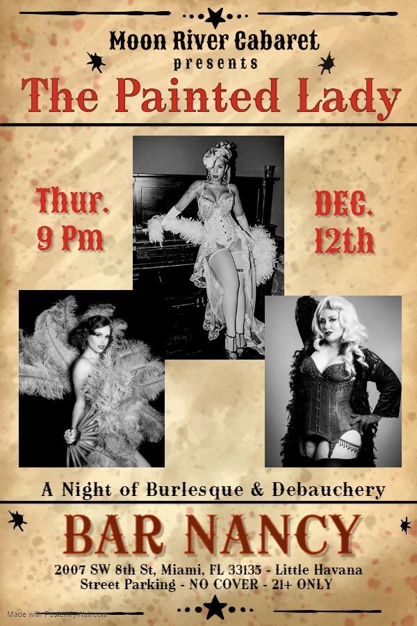 The Painted Lady! A Night of Burlesque & Debauchery. @ Bar Nancy