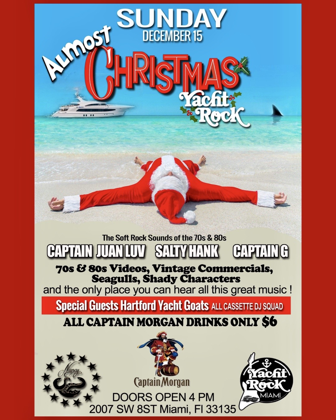 Captain Morgan's Almost Christmas Yacht Rock Sunday @ Bar Nancy
