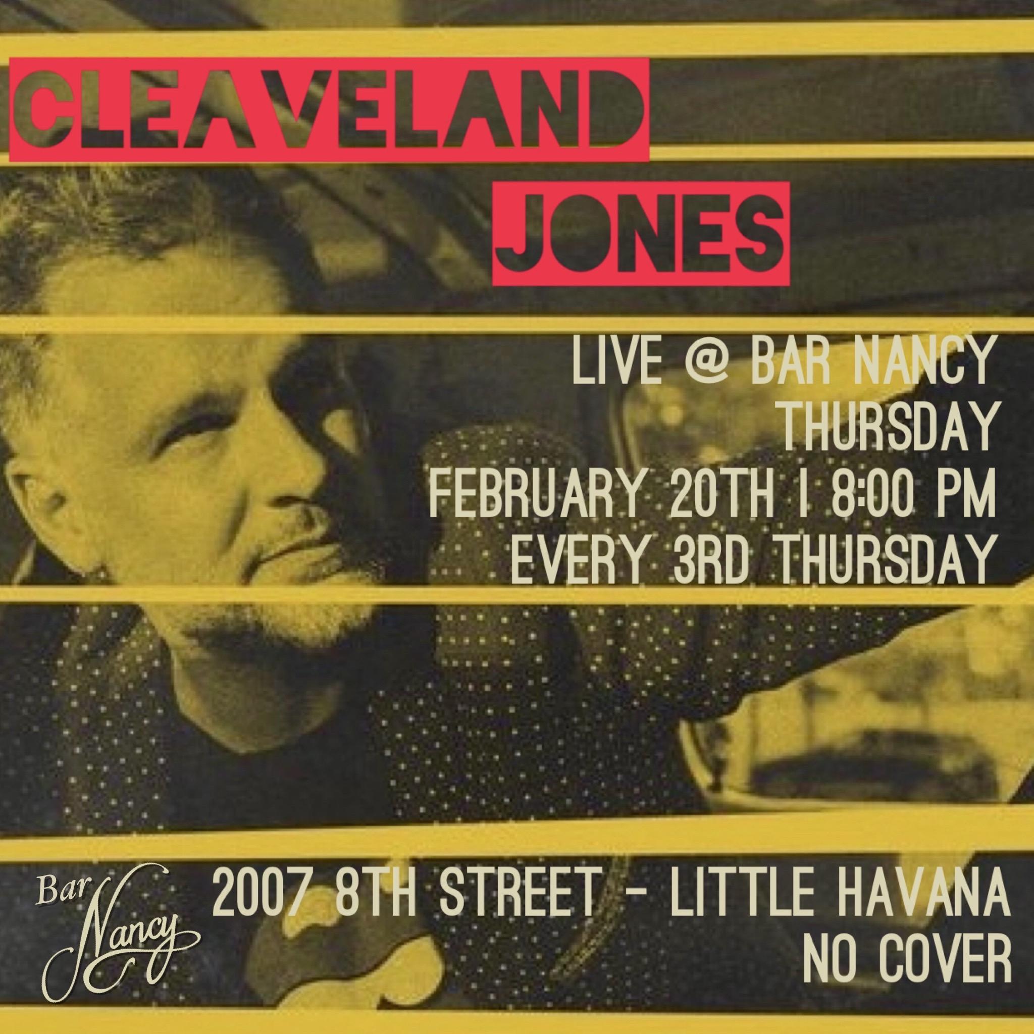 An Evening with Cleaveland Jones! at Bar Nancy