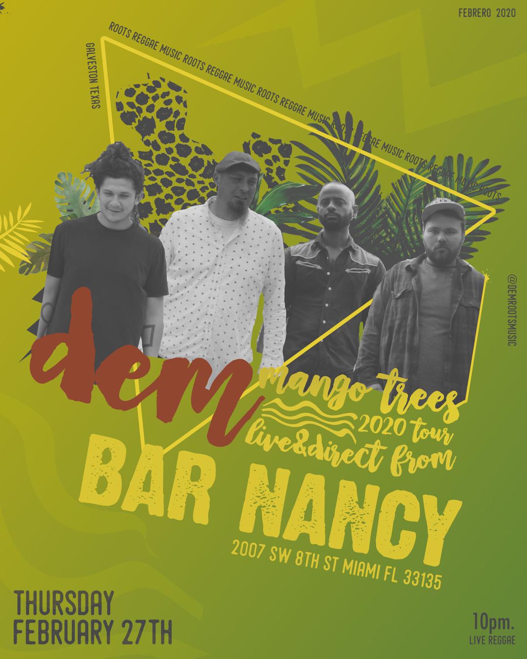 Dem at Bar Nancy - Thursday, February 27, 2020 at 8 PM