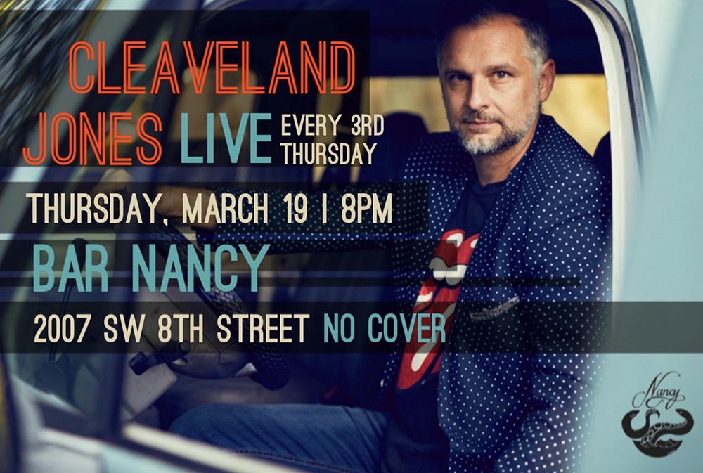 Cleaveland Jones Live! ( Every 3rd Thursday! at Bar Nancy