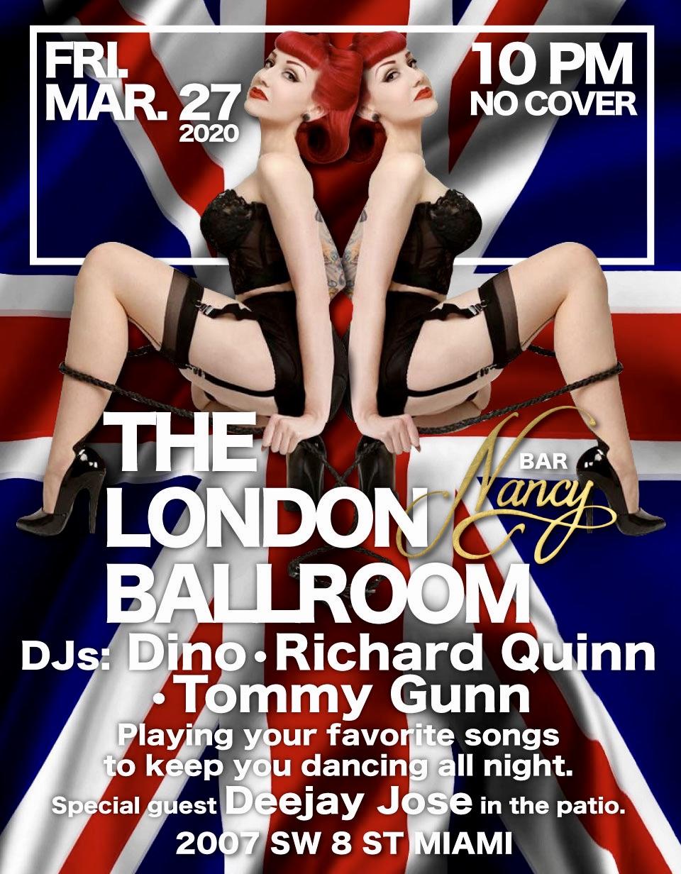 The London Ballroom: Glamour & Music at Bar Nancy