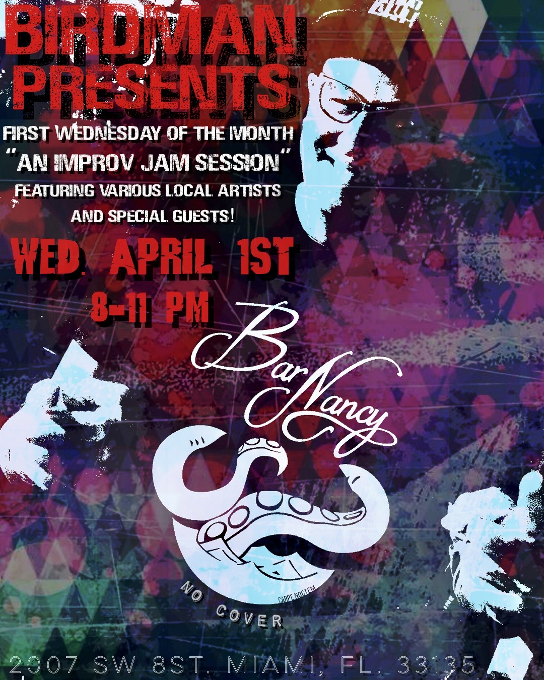 Birdman Presents! Jam with the Clam! 1st Wednesday's! at Bar Nancy