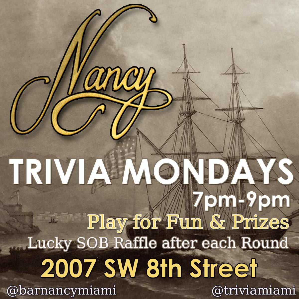 Trivia Returns to Bar Nancy
