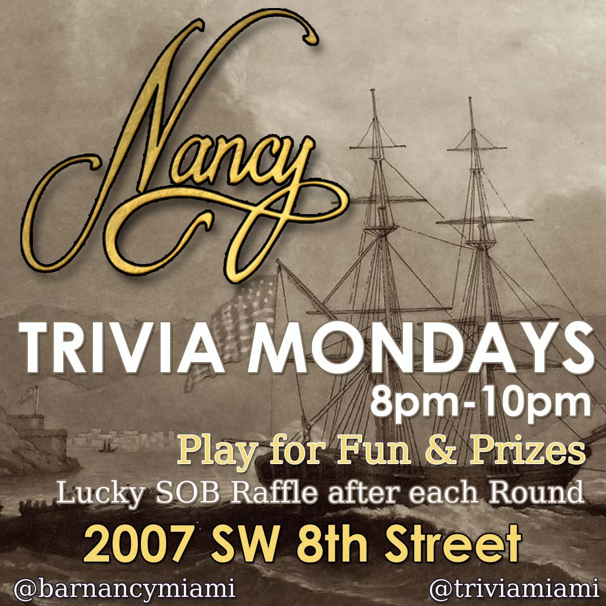 Trivia Mondays at Bar Nancy