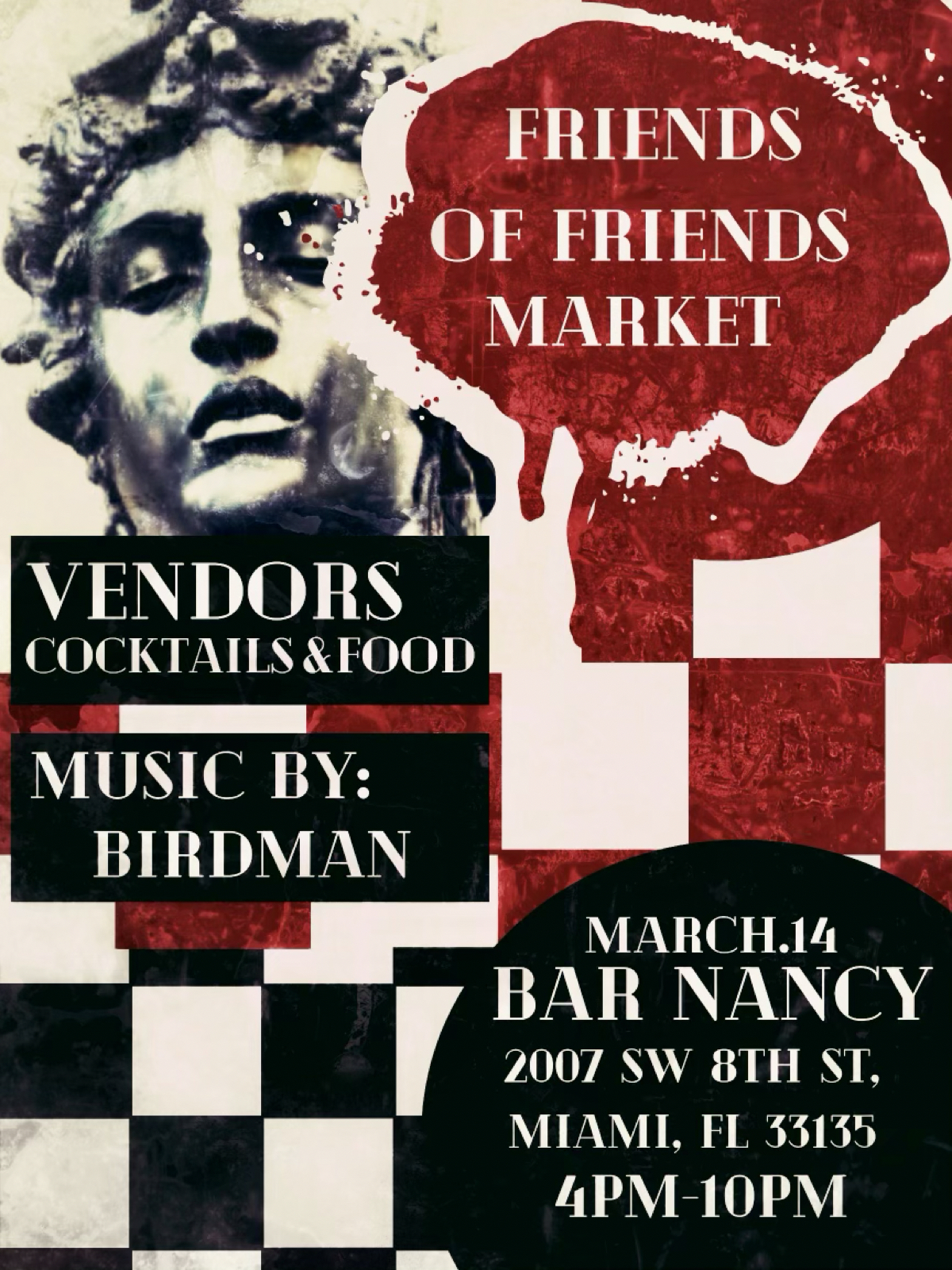 Friends of Friends Market at Bar Nancy - Music by Birdman - March 14 at 4PM