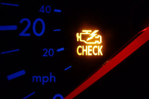 Vehicle with Check Engine Light Illuminated
