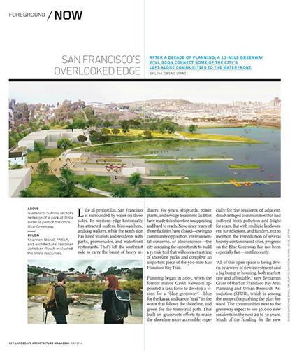 Page & Turnbull Architectural Historian in Landscape Architecture Magazine