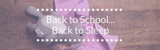Back to School Sleep Tips for Children