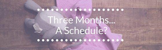 Three Months Old A Schedule
