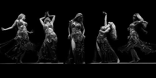 black and white belly dancing