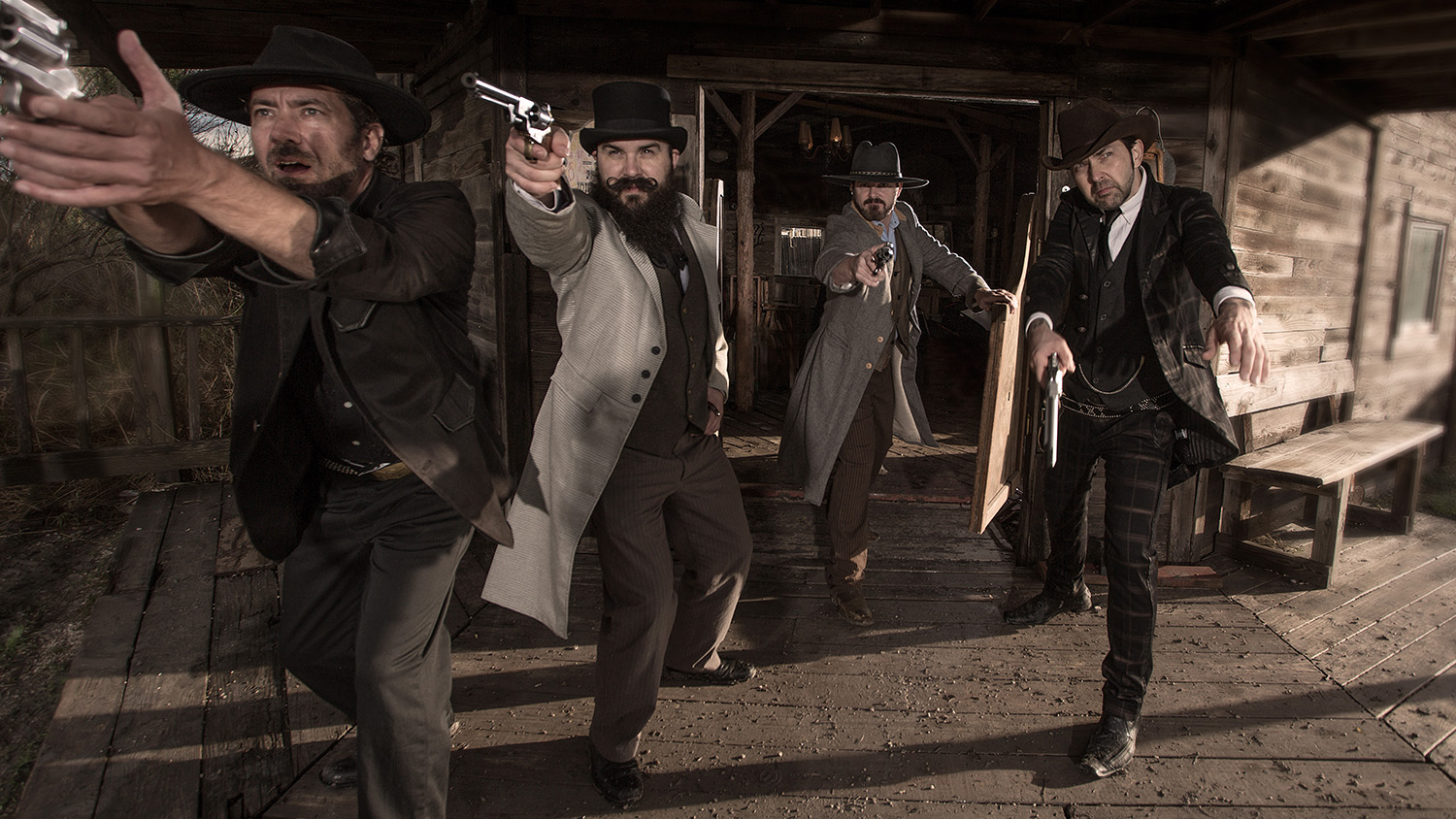 western shootout  Wild West at J Loraine Ghost Town