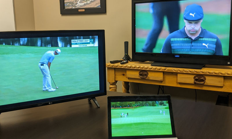 Commlinks employees watch 2020 masters coverage
