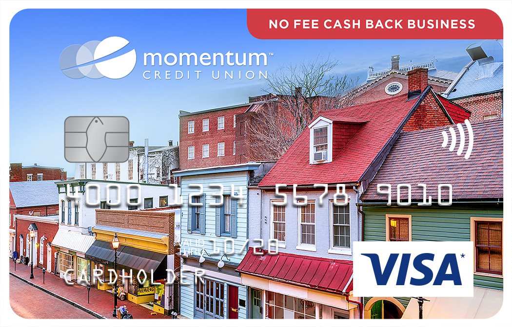 Momentum Visa No Fee Cash Back Business