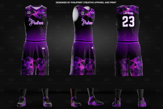 The Padres Full Sublimation Basketball Jersey