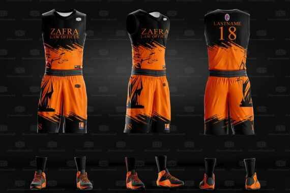Philiprint ZAFRA LAW OFFICES Full Sublimation Basketball Jersey