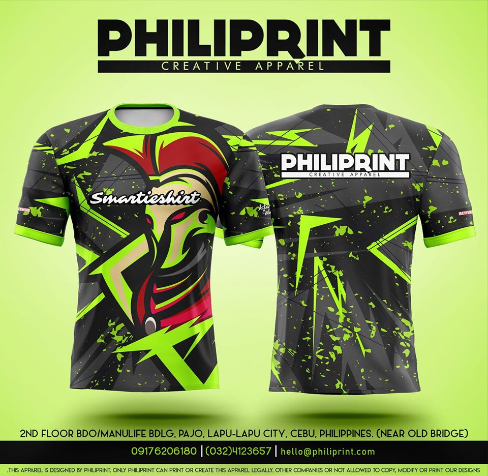 Philiprint Smartieshirt Sublimation Print T-Shirt