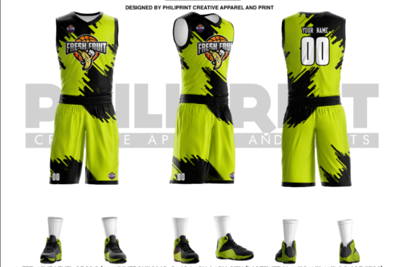 Philiprint Full Sublimation Fresh Fruit Basketball Jersey