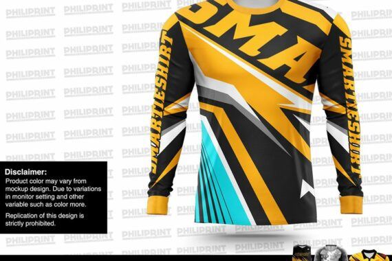 Philiprint Full Sublimation Motorcycle Jersey Smartieshirt Long Sleeve