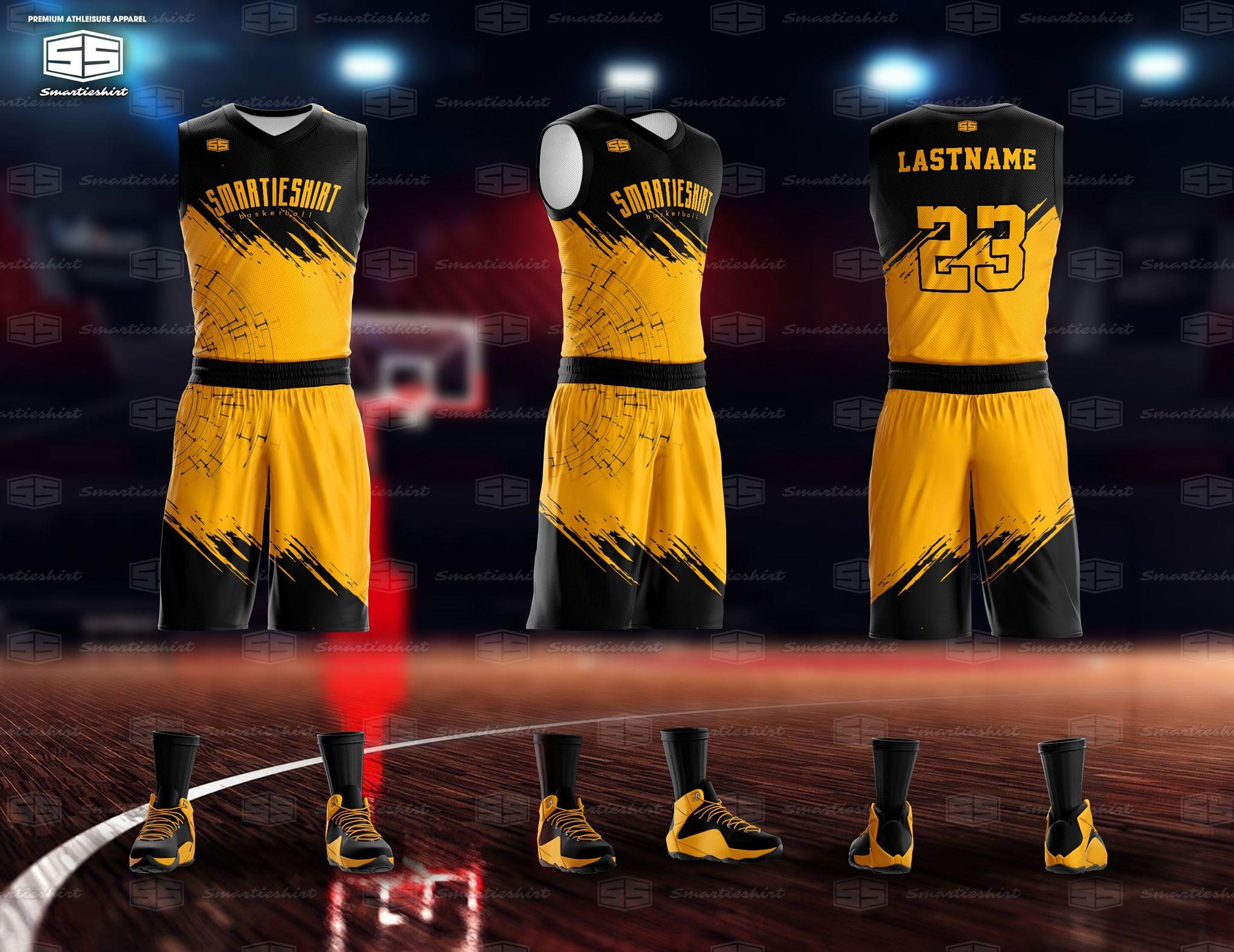 Philiprint Smartieshirt Mud Gold Basketball Jersey