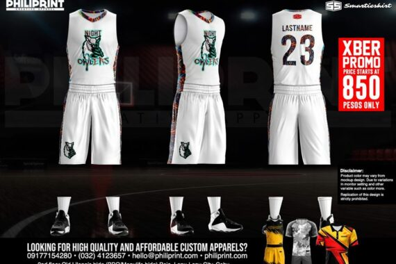 Philiprint Basketball Jersey Full Sublimation Night Owlers