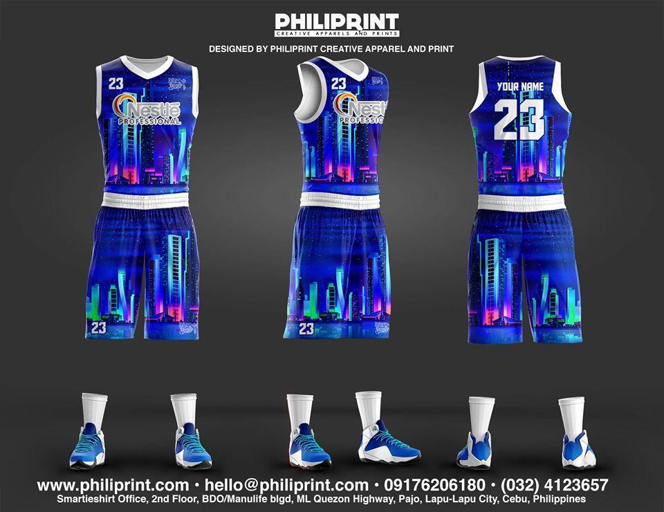 Philiprint Nestle PROFESSIONAL Flourescent Neon Prints Full Sublimation Basketball Jersey