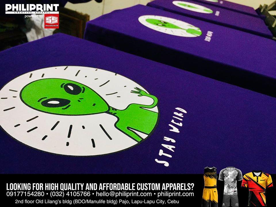 Philiprint STAY WEIRD Silkscreen T-shirt Printing